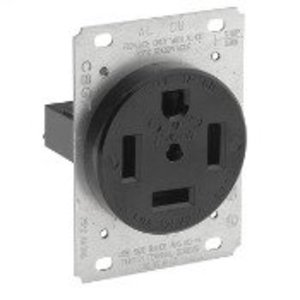 Leviton 9460 60 Amp Flush Mount Receptacle, 125/250V, 14-60R, 3P4W, Grounding