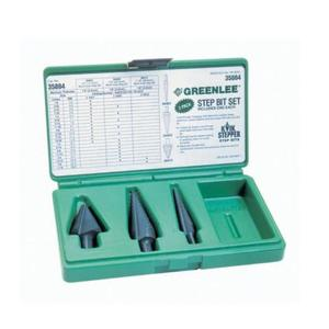 Greenlee 35884 4-Piece Kwik Stepper Step Bit Kit
