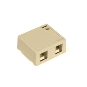 Leviton 41089-2IP QuickPort Surface Mount Housing, 2-Port, Ivory