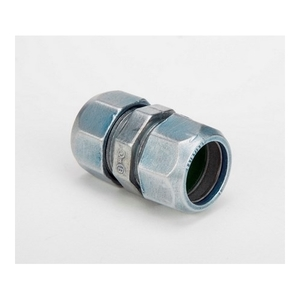"Bridgeport Fittings 261-RT EMT Compression Coupling, 3/4"", Zinc Die Cast, Rain Tight"