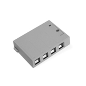 Leviton 41089-4GP Housing Sf/mt 4-pt Gry