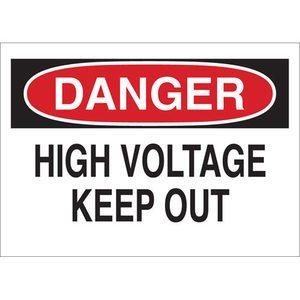 "Brady 84082 Electrical Hazard Sign, Self-Sticking Polyester, 3.5"" x 5"""