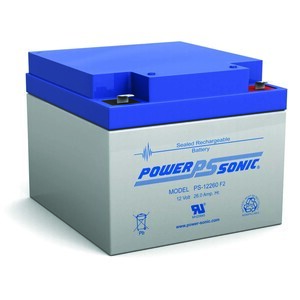 Power-Sonic PS-12260-F2 Rechargeable Sealed Lead Acid Battery, 12V, 26Ah