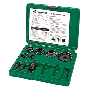 Greenlee 930 Hole Saw Kit, 7/8 - 2-1/2""