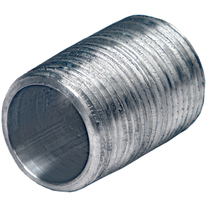 "Multiple GRC125XCL Conduit Close Nipple, 1 1/4"", Material: Galvanized Steel"