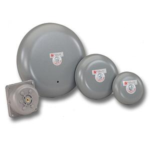 "Federal Signal A4 Vibrating Bell, Diameter: 4"", Gray, Metallic"