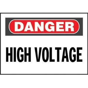 "Panduit PVS0109D72Y Vinyl Adhesive Sign, 1""x9"", 'Danger High"