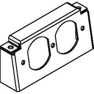 Wiremold RFB-DR Duplex Bracket, Internal, Accomodates 15/20A Duplex Receptacles