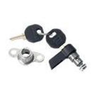 Hoffman LLKWK  Wing Knob Latch Kit, Includes (2) Keys, Black, Zinc Die Cast