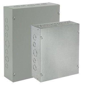 """Hoffman ASG18X18X12NK Pull Box, NEMA 1, Screw Cover, 18 x 18 x 12"""", Steel"""
