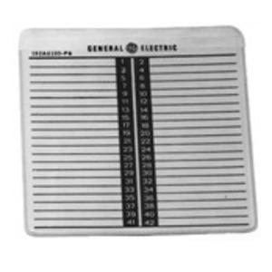 GE 569B806G3 Panelboard, Circuit Numbering Strips, 84-168