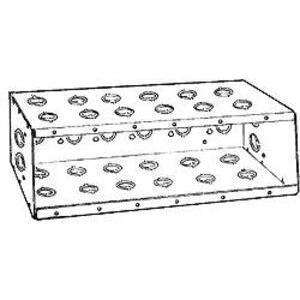 "Hubbell-Raco 965 Masonry Box, 6-Gang, 3-1/2"" Deep, 1/2"" & 3/4"" KOs, Steel"
