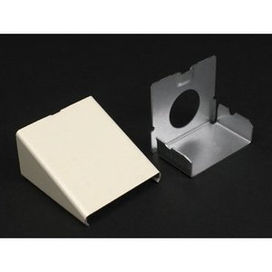 """Wiremold 2410A-FW Entrance End Fitting, 2400 Series, Steel, 1/2"""""""
