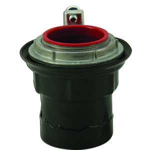 "Plasti-Bond PRSTG3 Conduit Hub With Ground, PVC Coated, 1"", PVC Coated Steel"