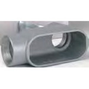 "Bizline BZLOLB5CG Conduit Body, Type: LB, Size: 1-1/2"", Form 5, Cover/Gasket, Aluminum"