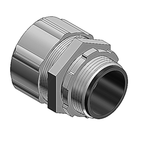 Thomas & Betts 5332-HT Liquidtight Connector, Insulated, High Temperature Rated, Size: 1/2""