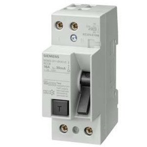Siemens 5SM3311-6KK13 Breaker, 16A, Residual Current Device, DIN Rail Mount, 24-125VAC