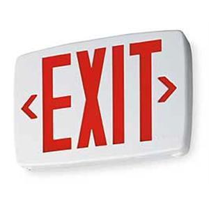 Lithonia Lighting LQMSW3R120/277ELNM6 Emergency Exit Sign, Red, Battery, LED