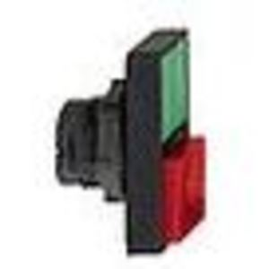 Square D ZB5AW7L3740 Push Button, Double, Pilot Light, Green/Red, Flush/Extended, 22.5mm