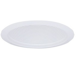 "Elco Lighting ELM300W 6"" Airtight Metal Baffle Cone, White Baffle, White Ring"
