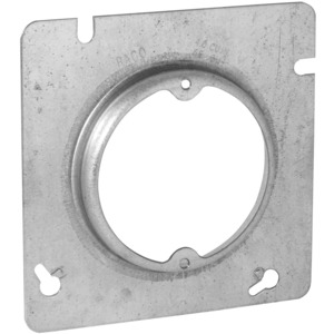 "Hubbell-Raco 835 4-11/16"" Square Fixture Cover, Mud Ring, 5/8"" Raised, Drawn"