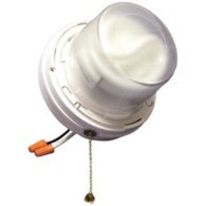Allied Moulded LH-CFL2 Pull Chain Fixture, Compact Fluorescent, 13W, White