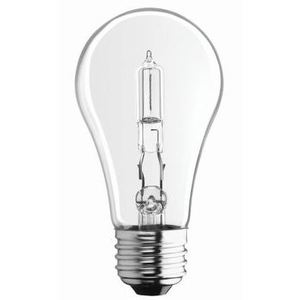 SYLVANIA 43A/HAL/CL/2-120V Halogen Bulb, A19, 43W, 120V, Clear