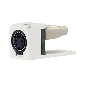 Panduit CJSVIW Mini-Com S-Video Punchdown Module, Off W