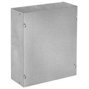 "Hoffman ASG12X12X6NK Pull Box, NEMA 1, Screw Cover, 12"" x 12"" x 6"""