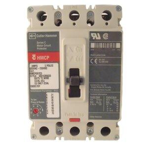 Eaton HMCP015E0C Breaker, Molded Case, 15A, 3P, 600V, 250 VDC HMCP