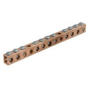 Ilsco D167-12 Ground Bar Kit, 12 Circuit, Copper Conductor Only