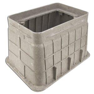 "Oldcastle Precast 02006038 Underground Rectangular Box, 13"" x 24"" x 12"", Composite"
