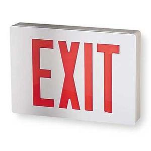 All-Pro Lighting APX7R Emergency Exit Sign, Red LED, Battery Backup