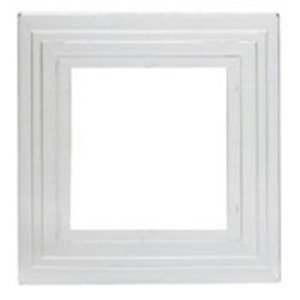 Leviton 12796 Wallplate Shield, 2-Gang, Clear