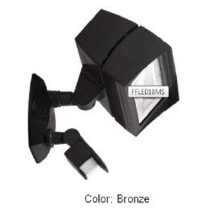 RAB FFLED18MS Flood Light, LED, w/ Motion Sensor, 18W, Bronze