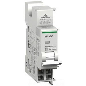 Square D 27109 Breaker, Multi 9, Shunt Trip, Auxiliary Switch, 110-240-277VAC, 125VDC