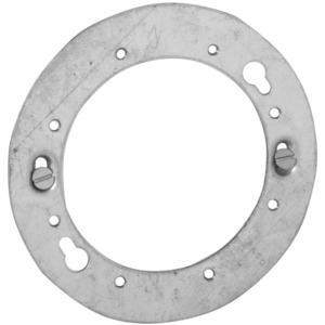 "Hubbell-Raco 893 Adapter Plate/Concrete ring Cover, Diameter: 4-1/2"", Metallic"