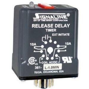 Time Mark 36124-1SEC Relay, Time Delay, Digital Adjustment, 24VAC, 1 Second Delay