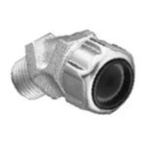 """Thomas & Betts 2216 Liquidtight Stain Relief Cord Connector, 45°, 1"""", Malleable Iron"""
