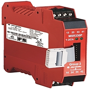 Allen-Bradley 440R-W23223 Relay, Modular Monitoring Safety, 3NO Outputs, 1NC Auxiliary, 24VDC