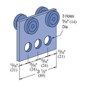 Unistrut P2950-EG 3-Hole Trolleys