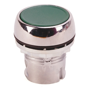 Allen-Bradley 800FM-F3 Push Button, Flush, Green, Momentary, Non-Illuminated, Metal, 22.5mm
