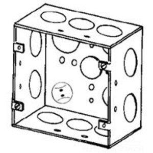 "Appleton 4SJD-3/4 4"" Square Box, Welded, Metallic, 2-1/8"" Deep"