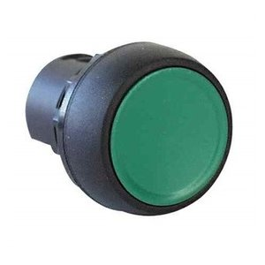 Allen-Bradley 800FM-F2 Push Button, Flush, Black, Momentary, Non-Illuminated, Metal, 22.5mm