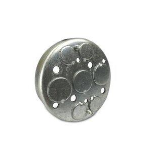"Appleton 510LC 3-1/4"" Ceiling Pan, 1/2"" Deep, 1/2"" and 21/32"" KOs, Metallic"