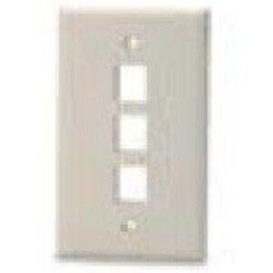 Bizline FPSG3PWHT Wall Plate, Snap-In, 1-Gang, 3 Port, White