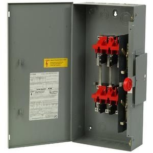 Eaton DT361URK Safety Switch, 30A, 3P, 600VAC/250VDC, HD, Non-Fusible, NEMA 3R