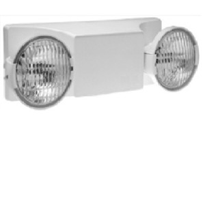 Hubbell-Dual-Lite EZ-2-D Emergency Light, Commercial, Damp Location