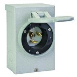 Reliance Controls PB50 Power Inlet, 50A, 120/240VAC, NEMA CS63-75, Recessed Inlet, NEMA3R