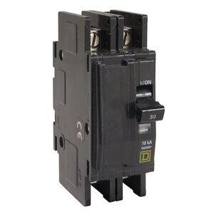 Square D QOU215 Breaker, Lug In/Lug Out, 2P, 15A, 120VAC, Type QO, 10kAIC